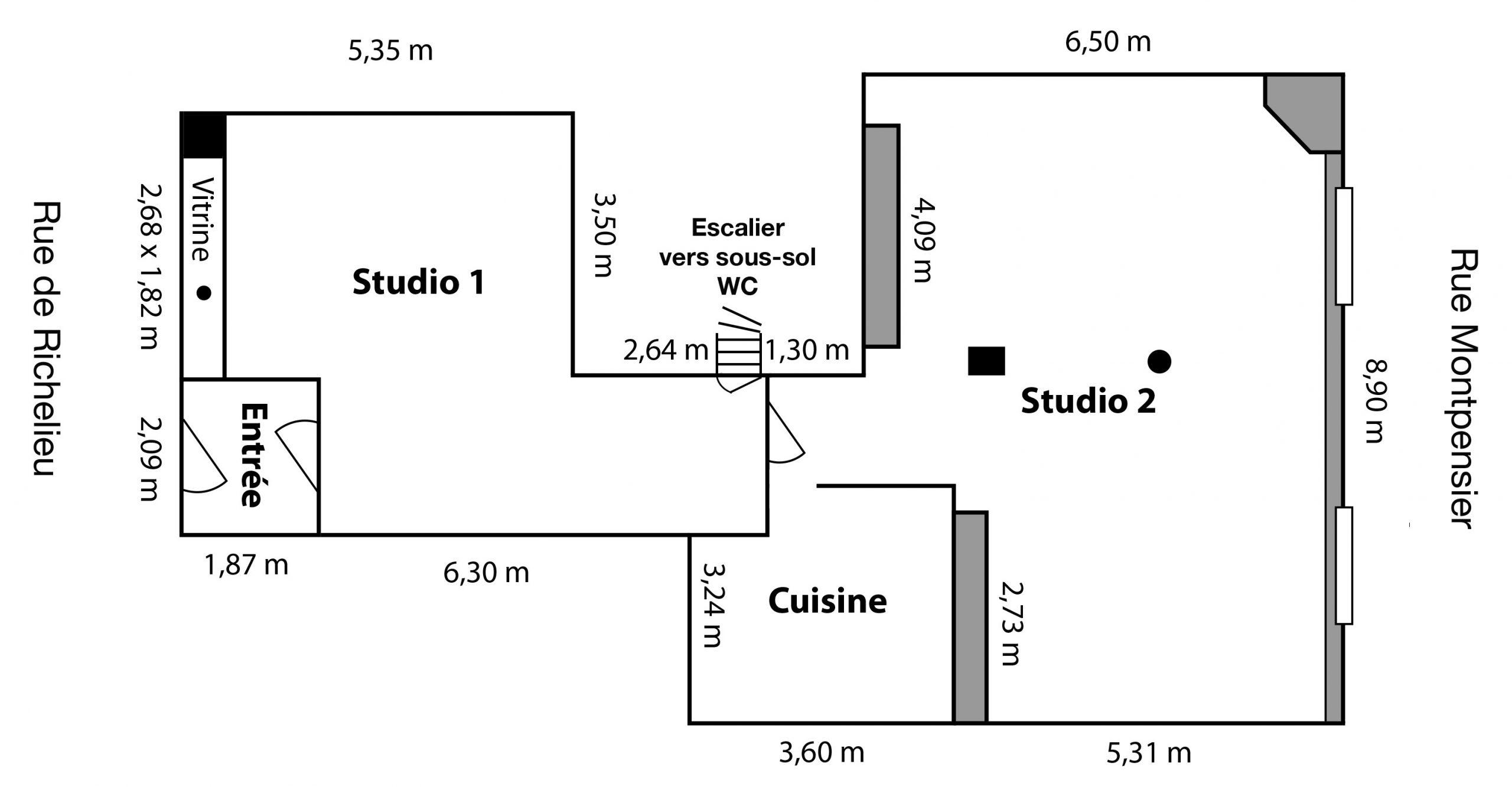 Plan de l'Espace Louvre